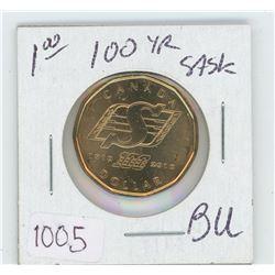 1910-2010 Saskatchewan 100 Year Old Loonie