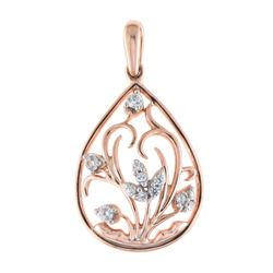 14K Rose Gold 0.15CTW Diamond Pendant Necklace, (I1-I2/H-I)