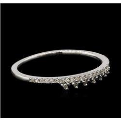 0.1 ctw Diamond Ring - 14KT White Gold