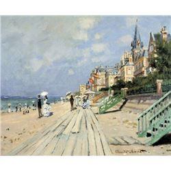 Claude Monet - Beach at Trouville