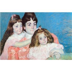 Mary Cassatt - Madame A.F. Aude With Her Two Daughters