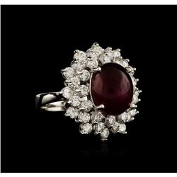 14KT White Gold 8.69 ctw Ruby and Diamond Ring