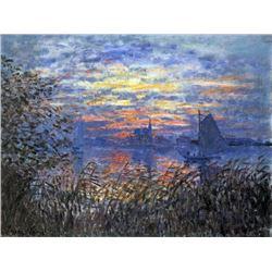 Claude Monet - Sunset on the Seine