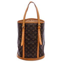 Louis Vuitton Monogram Canvas Leather Bucket GM Shoulder Bag