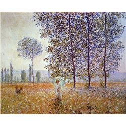 Claude Monet - Poplars in the Sunlight