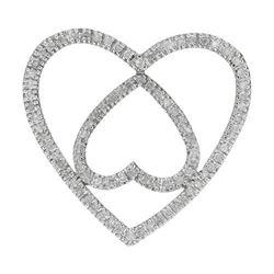 10k White Gold 0.74CTW Diamond Pendant, (I2/I-J)