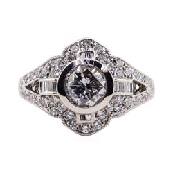1.06 ctw Diamond Ring - Platinum