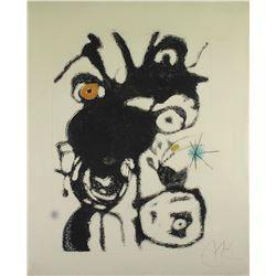 Espriu, 1975, Plate 4, 872 by Joan Miro (1893 - 1983)