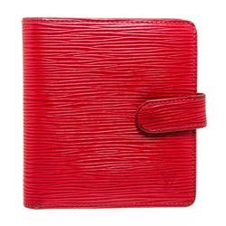 Louis Vuitton Rouge Epi Leather Porte Billet Compact Wallet