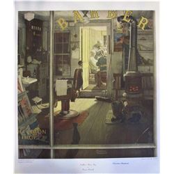 """Norman Rockwell """"Suhuffelton's Barber Shop"""""""