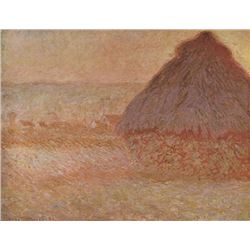 Claude Monet - Haystacks at Sunset