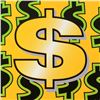 Image 2 : Dollar Sign (Yellow Background) by Steve Kaufman (1960-2010)