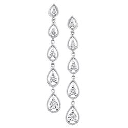 14k White Gold 0.65CTW Diamond Earrings, (I1 /G-H)