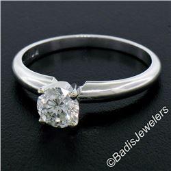 Platinum 0.60 ctw Prong Set Round Brilliant Diamond Solitaire Engagement Ring