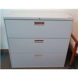Metal 3-Drawer Lateral Filing Cabinet