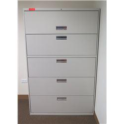 HON Metal 5-Drawer Lateral Filing Cabinet