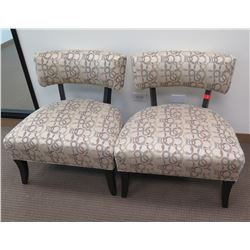 Qty 2 Reception Chairs w/ Upholstered Seat & Backrest