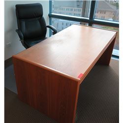 Wooden Desk w/ Drawers & Rolling Office Chair