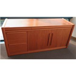 Wooden 2-Door Cabinet w/ Drawers
