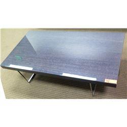 Minimlist Rectangular Coffee Table w/ Chrome Base