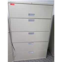 Metal 5-Drawer Lateral Filing Cabinet