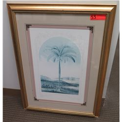 Framed & Matted Palm Tree Print