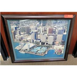 Framed & Matted Honolulu Harbor Photographic Image