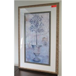 Framed & Matted Potted Tree Print