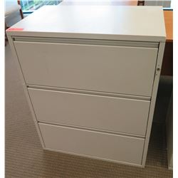 Metal 3-Drawer Lateral Filing Cabinet