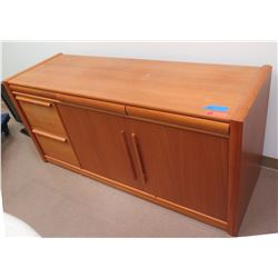 Wooden 2-Door Cabinet w/ Drawers