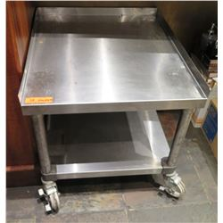 "Rolling Stainless Steel Work Table w/ Undershelf 24.5""x28.5""x24"""