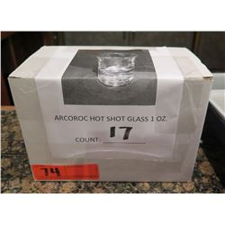 Qty 17 Arcoroc Hot Shot Glass 1 oz in Box