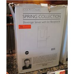 Colin Cowie Spring Collection Beverage Server w/ Ice Receptacle in Box
