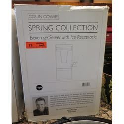 Colin Cowie Spring Collection Beverage Server w/ Ice Receptacle (missing base)