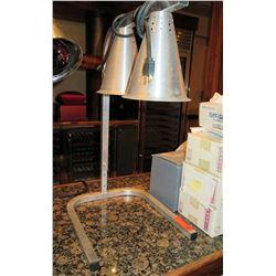 "Heat Lamp Food Warmer w/ 2 Bulbs on Freestanding ""U"" Shape Base"