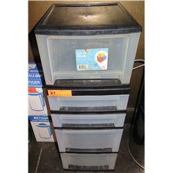 Iris 5 Tier Plastic Stacking Storage Drawer Set
