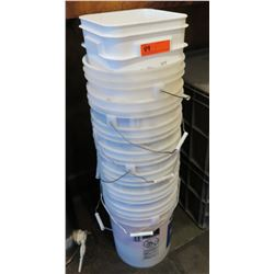 Multiple Stacking Round & Square Buckets (some w/ Handles)