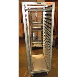 "Otto Braun Rolling Metal Pan Storage Rack 18.5""x27""x65"""