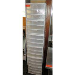 18 Tier Plastic Stacking Storage Drawer Set