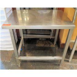"Stainless Steel Work Table w/ Undershelf 30.5""x29.5""x29"""