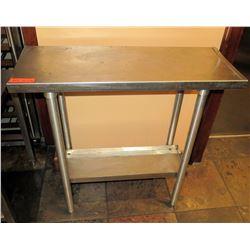 "Stainless Steel Work Table w/ Undershelf 36""x13""x36"""