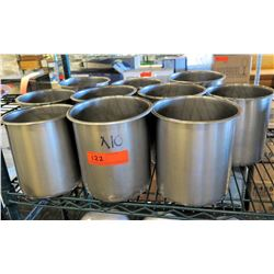 Qty 10 Round Stainless Steel Soup Containers & Insets