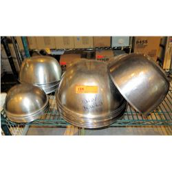 Multiple Sized Stainless Steel Salad Bowls