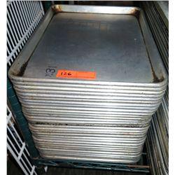 """Qty 31 Metal Baking Pans 18"""" x 13"""""""