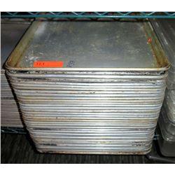 """Qty 37 Metal Baking Pans 26"""" x 18"""""""