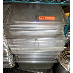 Multiple Large Plastic & Metal Lids