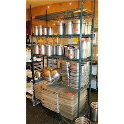 Intermetro Industries Green Metal Wire Mesh 4 Tier Shelf (shelf only)