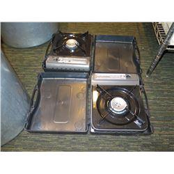 Qty 2 Portable Gas Burner Stoves