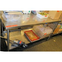 """Stainless Steel Work Table w/ Undershelf 62""""x30""""x41"""" (table only)"""