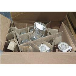 Qty 56 Air Seal 75ML Cylinder Jars w/ Lids in Box